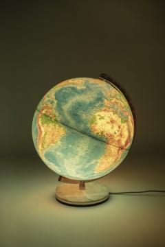 Paul Ostergaard Duplex illuminated globe with marble base 70s - 1837912