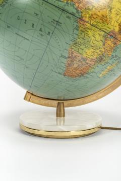 Paul Ostergaard Duplex illuminated globe with marble base 70s - 1837914