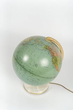 Paul Ostergaard Duplex illuminated globe with marble base 70s - 1837949