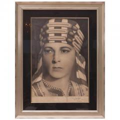 Paul Pappakustas Pencil Drawing of Silent Film Icon Rudolph Valentino by Paul Pappakustas - 587388