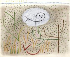 Paul Rand Untitled Owl in the Grass - 1156877