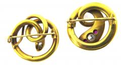 Paul Robin Paul Robin Diamond and Ruby Snake Pair of Pins - 178566