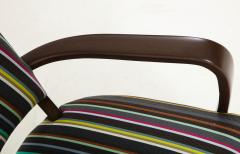 Paul Smith French 1940s Paul Smith Striped Armchairs - 1576090