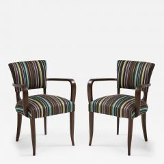 Paul Smith French 1940s Paul Smith Striped Armchairs - 1577090