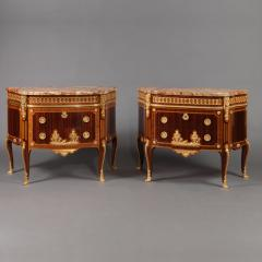 Paul Sormani A Pair of Transitional Style Parquetry Commodes - 1004240