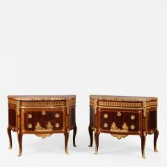 Paul Sormani A Pair of Transitional Style Parquetry Commodes - 1005411