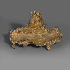 Paul Sormani A Rare Louis XV Style Gilt Bronze Encrier - 1026071