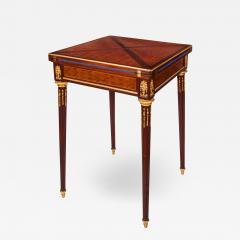 Paul Sormani Ormolu rosewood and mahogany antique card table by Sormani - 1446470
