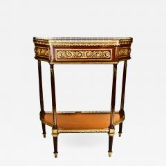 Paul Sormani Pair of Antique French Louis XVI Gilt Bronze Mounted Mahogany Consoles - 609134