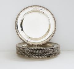 Paul Storr Set of 12 silver dinner plates by Paul Storr - 1318142