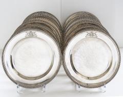 Paul Storr Set of 12 silver dinner plates by Paul Storr - 1318145