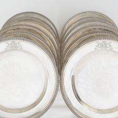 Paul Storr Set of 12 silver dinner plates by Paul Storr - 1318147