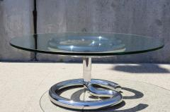 Paul Tuttle Glass and Chrome Anaconda Coffee Table by Paul Tuttle for Str ssle - 107035