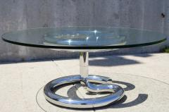 Paul Tuttle Glass and Chrome Anaconda Coffee Table by Paul Tuttle for Str ssle - 107039