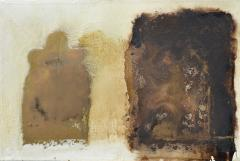 Paul Wadsworth Brown and White Abstract - 737087