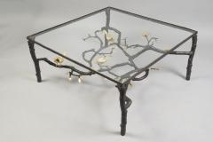 Paula swinnen wrought iron coffee table by paula swinnen