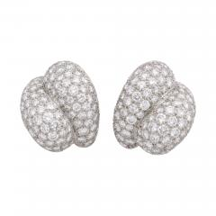 Pave Diamond Earrings - 1100531