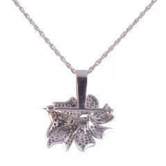 Pave Diamond Pin with Pendant Enhancer on Chain - 2147130