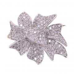 Pave Diamond Pin with Pendant Enhancer on Chain - 2147134