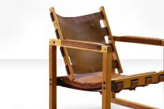 Pedersen Hansen Safari Chair by Peder Hansen in Eucalyptus Wood and Cognac Leather New Zealand - 980574