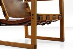 Pedersen Hansen Safari Chair by Peder Hansen in Eucalyptus Wood and Cognac Leather New Zealand - 980576