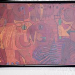 Pedro Coronel Pedro Coronel Mix Media Lithograph Mexican Modernist - 1076204