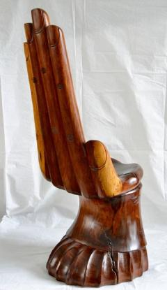 Pedro Friedeberg Mexican Carved Hand Chair in the Style of Pedro Friedeberg circa 1960 - 570490