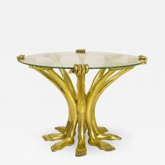Pedro Friedeberg Pedro Friedeberg Gilt Hand Foot Coffee Table circa 1970 Mexico - 807119