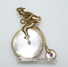 Penny Farthing Bicycle Lapel Watch - 1191181