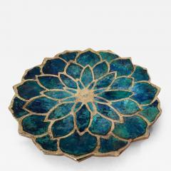 Pepe Mendoza Brass and Ceramic Dish by Pepe Mendoza - 98272