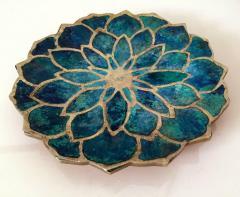 Pepe Mendoza Brass and Ceramic Dish by Pepe Mendoza - 98273