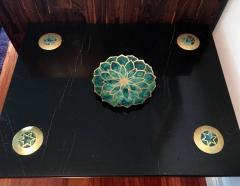 Pepe Mendoza Brass and Ceramic Dish by Pepe Mendoza - 98274