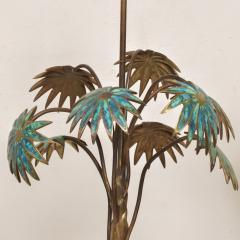 Pepe Mendoza Exquisite Pepe Mendoza PALM Tree Table Lamp in Bronze Malachite 1950s MEXICO - 1536692