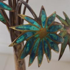 Pepe Mendoza Exquisite Pepe Mendoza PALM Tree Table Lamp in Bronze Malachite 1950s MEXICO - 1536693