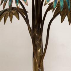 Pepe Mendoza Exquisite Pepe Mendoza PALM Tree Table Lamp in Bronze Malachite 1950s MEXICO - 1536694