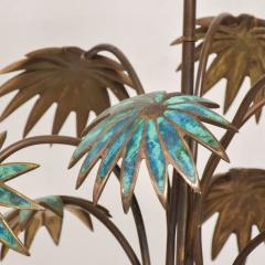 Pepe Mendoza Exquisite Pepe Mendoza PALM Tree Table Lamp in Bronze Malachite 1950s MEXICO - 1536695