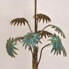 Pepe Mendoza Exquisite Pepe Mendoza PALM Tree Table Lamp in Bronze Malachite 1950s MEXICO - 1536697