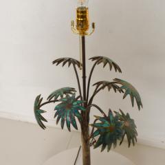 Pepe Mendoza Exquisite Pepe Mendoza PALM Tree Table Lamp in Bronze Malachite 1950s MEXICO - 1536699