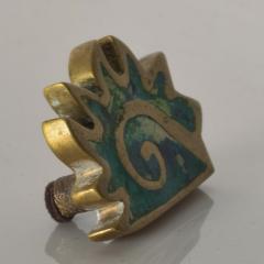 Pepe Mendoza PEPE Mendoza PULL Handle Maya Codex Bronze Turquoise Inlay 1958 Mexico - 1524238