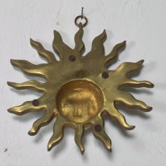 Pepe Mendoza PEPE Mendoza Wall Plaque Sun God Sculpture in Bronze Turquoise Mexico 1958 - 1526308