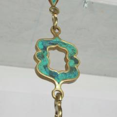Pepe Mendoza Pepe Mendoza Brass Elephant Hanging Lamp Chain in Turquoise and Brass MEXICO - 1469936