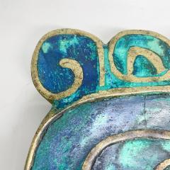 Pepe Mendoza Pepe Mendoza Brass Malachite Decorative Dish ASHTRAY 1958 Mexico - 2034277