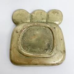 Pepe Mendoza Pepe Mendoza Brass Malachite Decorative Dish ASHTRAY 1958 Mexico - 2034281