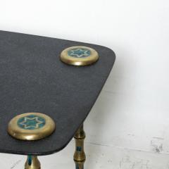 Pepe Mendoza Pepe Mendoza Floating Black Marble Malachite Braided Brass Coffee Table 1958 - 2008263