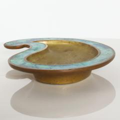 Pepe Mendoza Pepe Mendoza Stunning Bronze Turquoise Teardrop Ashtray Catchall 1958 Mexico - 1709573