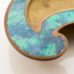 Pepe Mendoza Pepe Mendoza Stunning Bronze Turquoise Teardrop Ashtray Catchall 1958 Mexico - 1709575