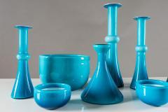 Per L tken Collection of Scandinavian Blue Glass by Per Lutken for Holmegaard - 833678