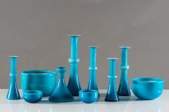Per L tken Collection of Scandinavian Blue Glass by Per Lutken for Holmegaard - 833679