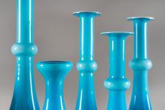 Per L tken Collection of Scandinavian Blue Glass by Per Lutken for Holmegaard - 833680