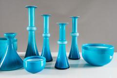 Per L tken Collection of Scandinavian Blue Glass by Per Lutken for Holmegaard - 833681